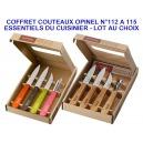COFFRET 4 COUTEAUX ESSENTIELS CUISINIER OPINEL N112 A 115 LAME INOX LOT AU CHOIX