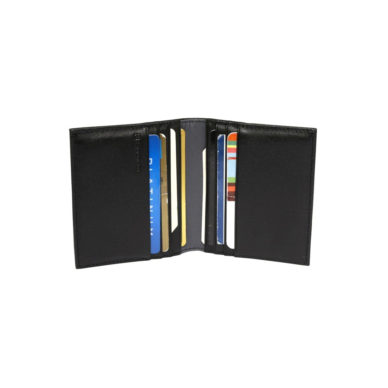 Porte-cartes en cuir lisse 6UxKi