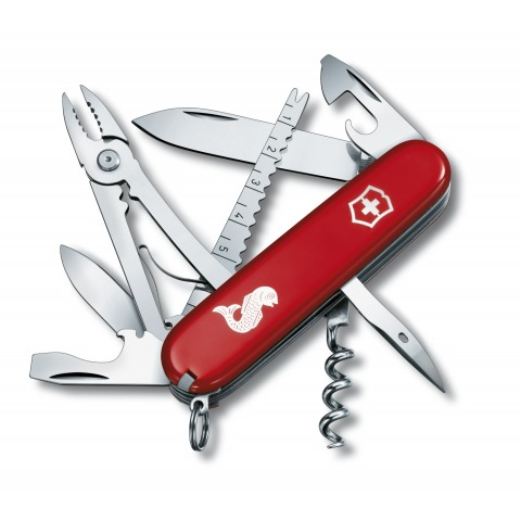 COUTEAU SUISSE VICTORINOX ANGLER PECHE POISSON 15 OUTILS ROUGE 1.3653.72