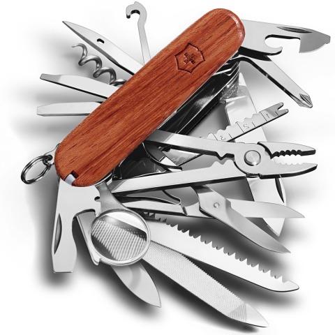 VICTORINOX COUTEAU SUISSE SWISSCHAMP BOIS BUBINGA 31 OUTILS | 1.6794.69