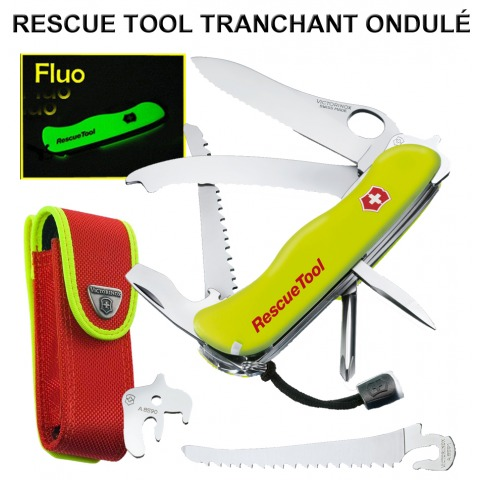 VICTORINOX RESCUE TOOL 15 OUTILS LAME DENTEE + ETUI 0.8623.MWN