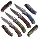 MASTER COLLECTION COUTEAU PLIANT / MANCHE 13CM + CLIP / LAME GRAVEE DRAGON 9.5 CM