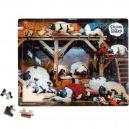 SMALLFOOT DESIGN - PUZZLE BOIS 100 PIECES - SHAUN LE MOUTON - HEURE DU COUCHER / 10221