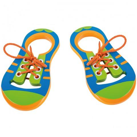 SmallFoot - Paire de Chaussures à lacer en Bois / 10152