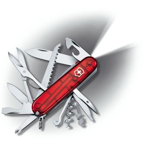 Victorinox - Couteau Suisse Huntsman Lite LED Rubis 22 Fonctions - 1.7915.T